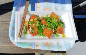 道の駅吉野路黒滝で食べた猪肉の揚げ餃子
