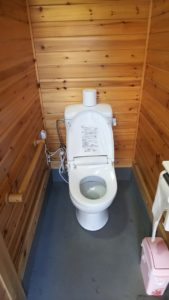 オートキャンプ沢谷水洗トイレ