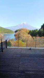 田貫湖畔から見た富士山