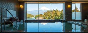 休暇村富士のお風呂からの景色