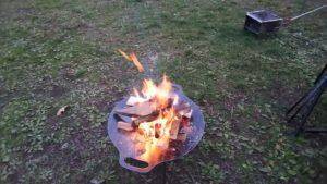 新しい焚火台