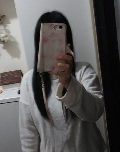 長い髪の私