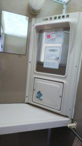 シャワールーム料金ボックス