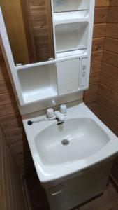 小ぶりな洗面台