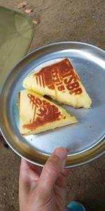 チーズスフレホットサンド