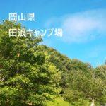 田浪キャンプ場【岡山県 真庭郡新庄村】