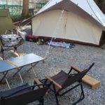 2泊3日姉川パークでキャンプ【1日目】強風と美味しいもの