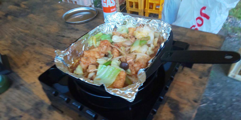 ホルモン野菜炒め